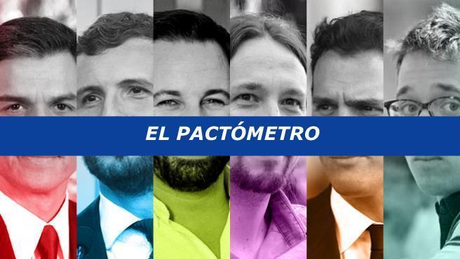 El candidato del PSOE a La Moncloa, Pedro Sánchez, solo podrá ser investido con el voto de toda la izquierda y la abstención de nacionalistas e independentistas o bien con el apoyo directo del PP, ya que no le bastaría sólo con una abstención de Pablo Casado para convertirse en presidente del Gobierno.
