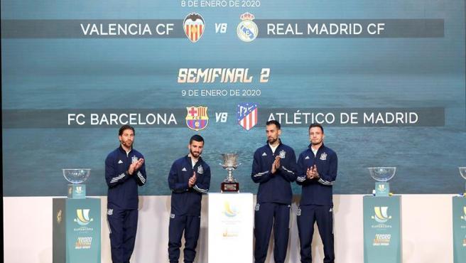 El resultado del sorteo de la Supercopa ha sido Valencia-Real Madrid y Barcelona-Atlético de Madrid.