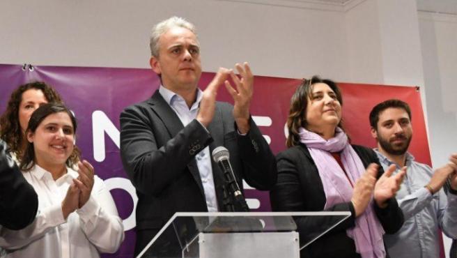 El candidato de Unides Podem al Congreso por Valencia , Héctor Illueca, en el 10N