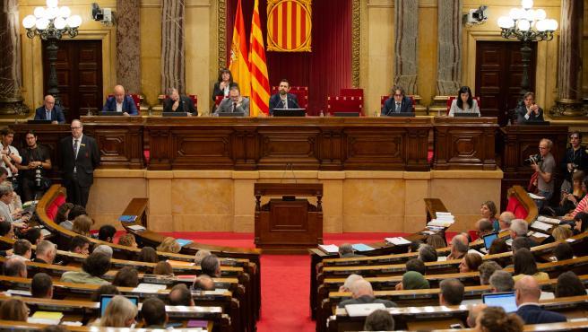 El pleno del Parlament
