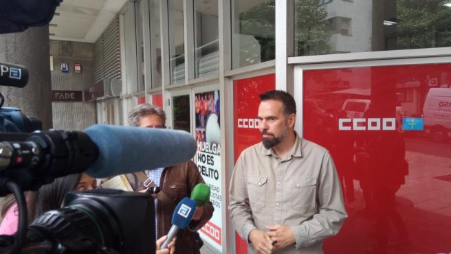 El secretario general de CCOO de Asturias, José Manuel Zapico.