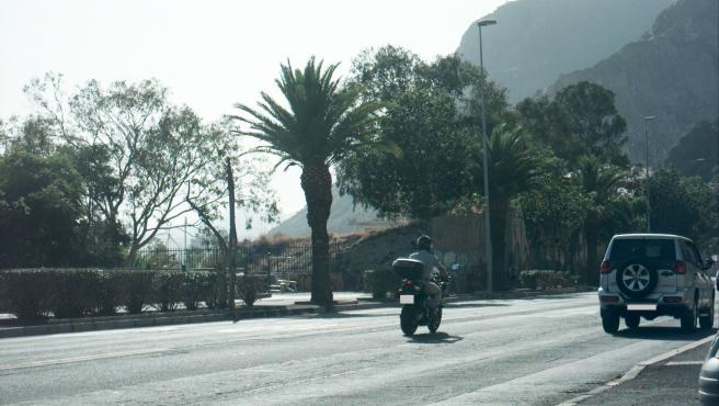 Imagen del motociclista captada por el radar