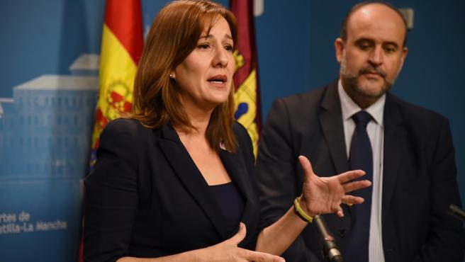 La consejera de Igualdad de C-LM, Blanca Fernández, en las Cortes