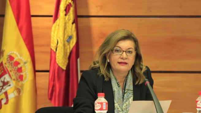 La directora general de Radio Televisión Castilla-La Mancha (RTVCM), Carmen Amores, en las Cortes regionales