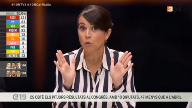 La presentadora de 'Els Matins' de TV3 sobre la caída de Albert Rivera: 'Hasta luego, Lucas'