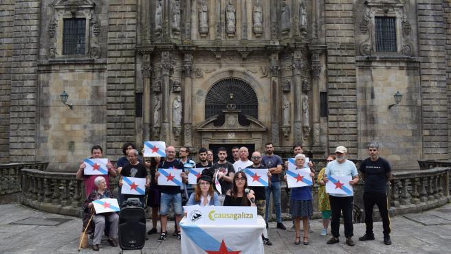 Miembros de Causa Galiza en Santiago de Compostela.