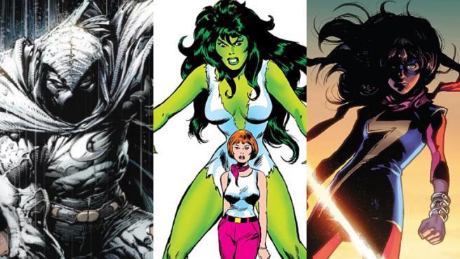 El Caballero Luna, She-Hulk y Ms. Marvel darán el salto al cine tras protagonizar las series de Disney+