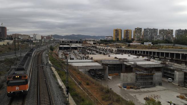 Obras de la futura estación de La Sagrera en Barcelona
