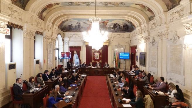 Pleno extraordinario del Ayuntamiento de Málaga