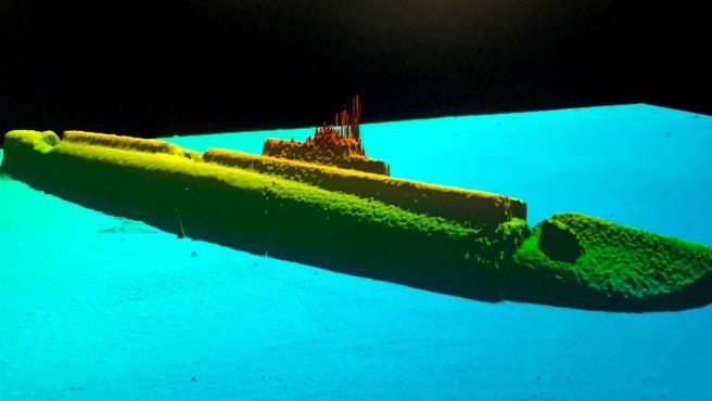 Una imagen sonar del USS Greyback