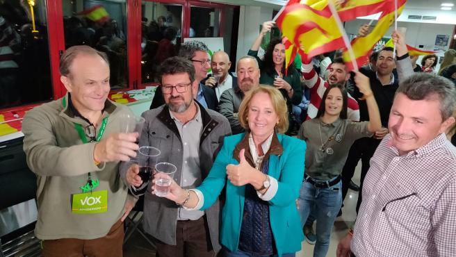 VOX celebra los resultados de las elecciones 10N, que les convierte en primera fuerza política en la Región de Murcia