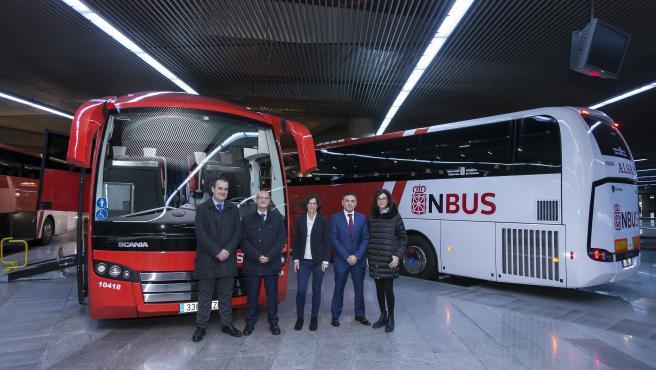 A* Jesús M Garzaron F* 2019_11_12 T* Presentación de los autobuses a Soria. NBUS. Bernardo Cirirza, consejero de Cohesión Territorial L* Estación autobuses