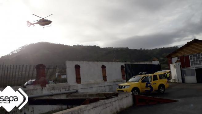 Accidente laboral en la fábrica de sidra El Gaitero.