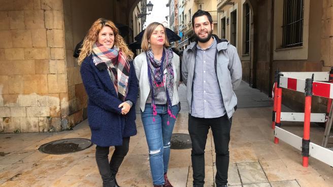Anabel Santiago, Ana Taboada y Rubén Rosón.