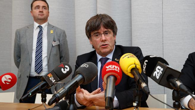 Carles Puigdemont attends What with Europe event in Belgium