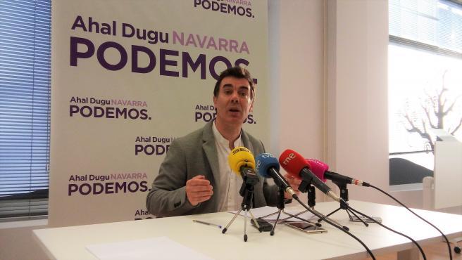 Eduardo Santos, secretario general de Podemos Navarra