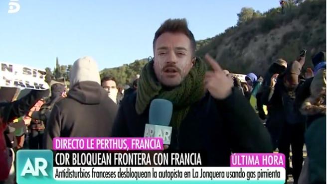 Mikel Valls, reportero de 'El Programa de Ana Rosa'.