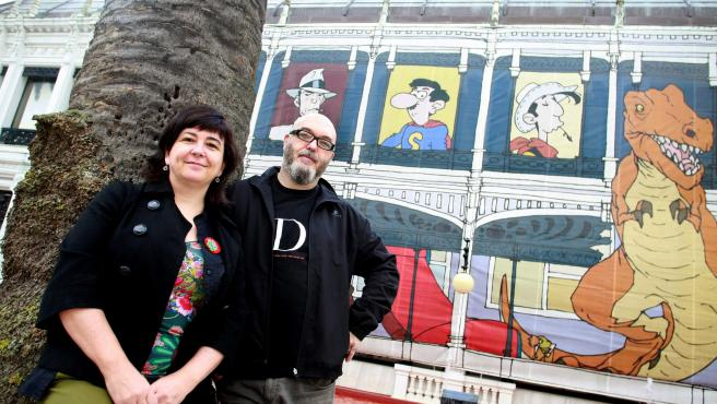 Imagen de archivo de dos de los premiados, Cristina Durán y Miguel Ángel Giner.