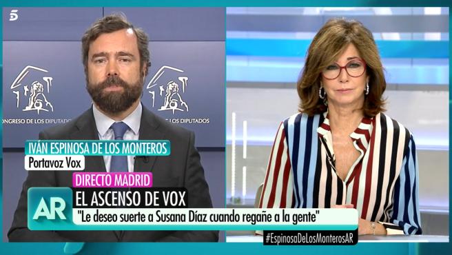 Iván Espinosa de los Monteros conecta en directo con 'El Programa de Ana Rosa'.
