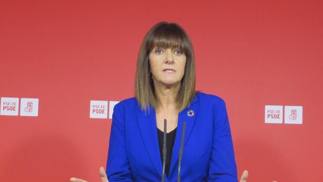 La secretaria general del PSE-EE, Idoia Mendia, valora los resultados del 10N