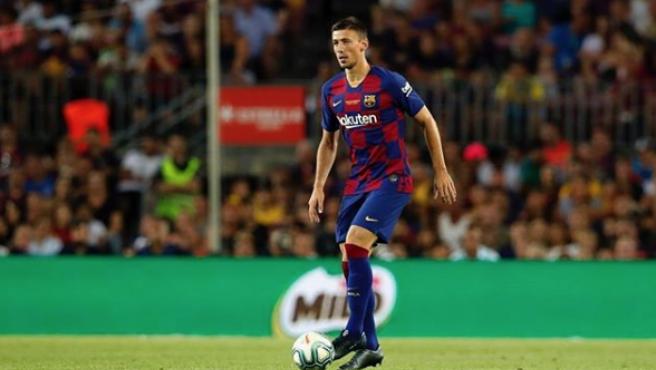 Clément Lenglet, en un partido con el Barça