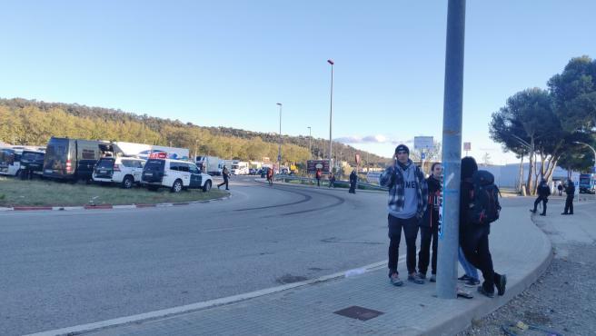 Manifestantes levantan el corte de la N-II en La Jonquera para ir a Girona