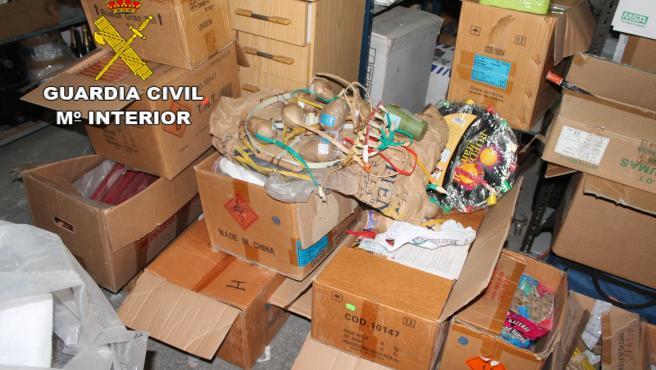 Intervienen 150 kilos de material pirotécnico en una nave industrial de Las Palmas de Gran Canaria