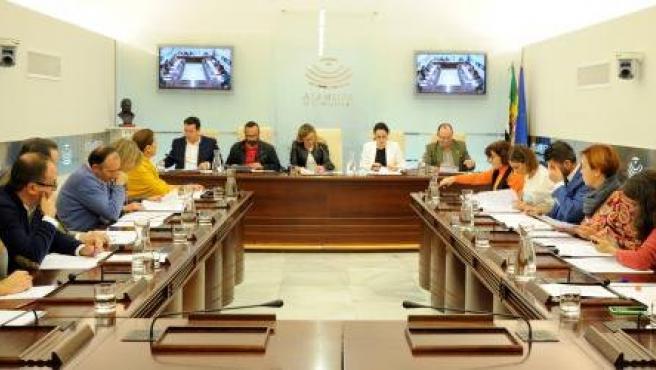 Reunión de la Junta de Portavoces en la Asamblea para aprobar el orden del día de la sesión plenaria número 8 de esta legislatura en la Cámara regional
