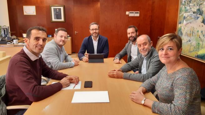 Reunión entre el Ayuntamiento de Palma y el de Marratxí para impulsar el área metropolitana.