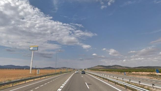 Autovía A-40, en Puerto Lápice (Ciudad Real).