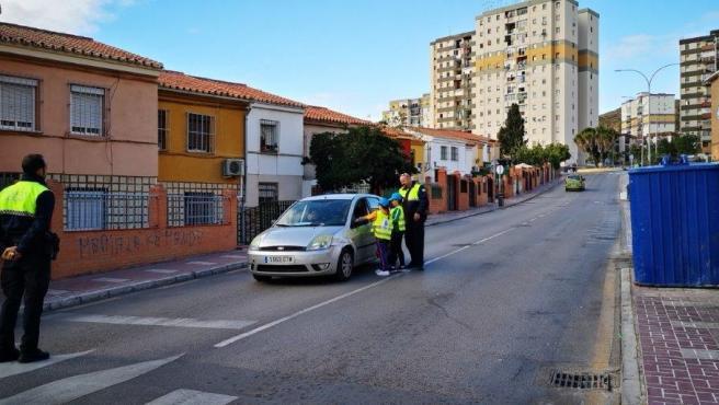 Campaña de educación vial en Málaga
