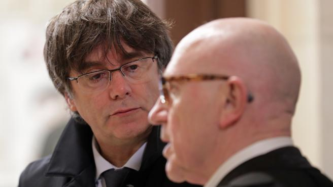 Carles Puigdemont hearing at justice court in Brussels