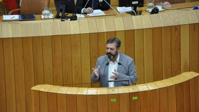 El diputado del BNG Luís Bará en el Parlamento de Galicia