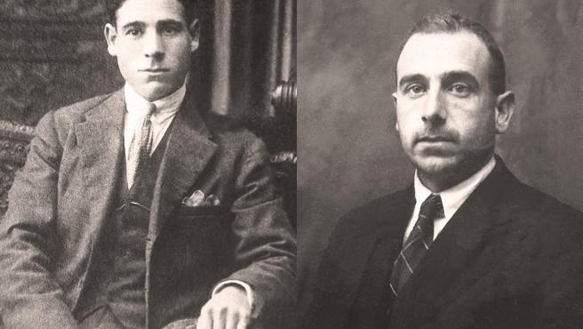 Hermanos Antonio Ramiro y Manuel Lapeña, asesinados en 1936 por los sublevados y enterrados en el Valle de los Caídos en 1959.