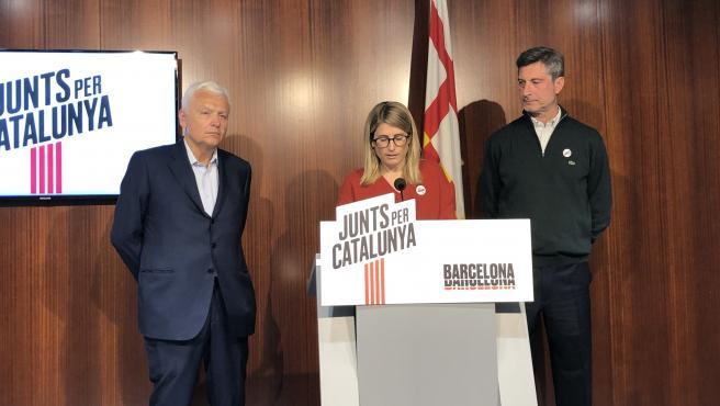 Elsa Artadi en rueda de premsa sobre el inicio de la tramitación del Proyecto de Presupuesto municipal 2020.