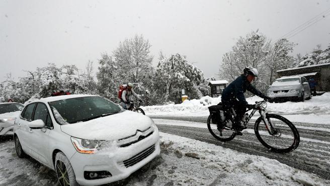 Intensa nevada en Navarra