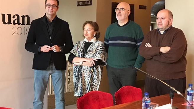 José Luis Costillas, María Luisa Alonso, Javier Gámez y Fernando Menéndez.