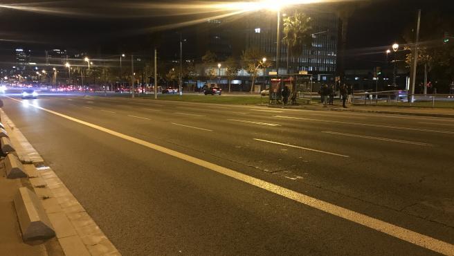 La avenida Diagonal cortada durante protestas de CDR