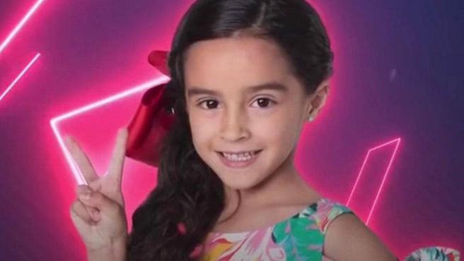 Marian Lorette, en una de las imágenes promocionales de 'La Voz Kids México'.