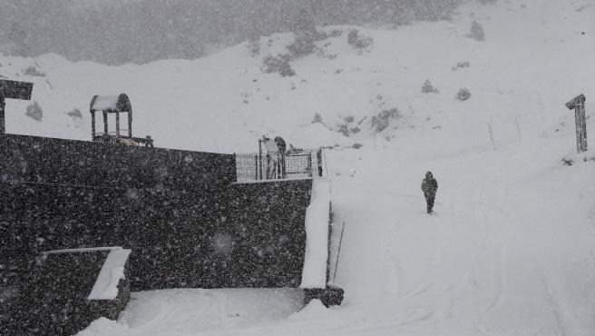 Belagoa (Navarra) fue uno de los territorios afectador por el primer temporal de nieve de este año.