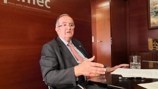 Presidente de Pimec, Josep González, en una imagen de archivo