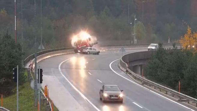 Imagen del accidente en Eslovenia.
