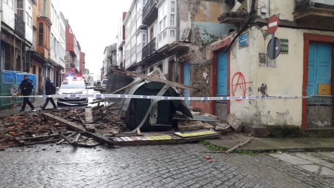Edificio derrumbado en Ferrol