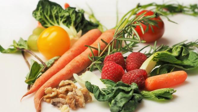 Frutas y verduras, frutos secos, dieta mediterránea