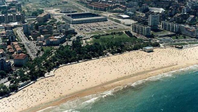 Imagen de una playa cántabra.