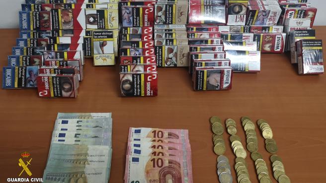 Material incautado por la Guardia Civil de un robo investigado en Corvera