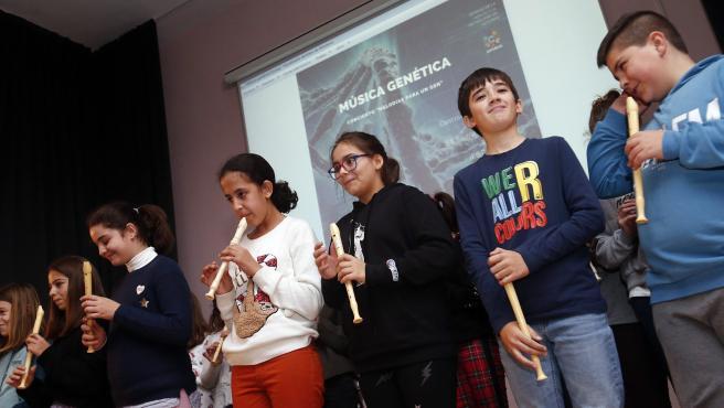 Presentación de las piezas musicales del genoma, dentro del proyecto 'Música genética', en el marco de la Semana de la Ciencia en Asturias