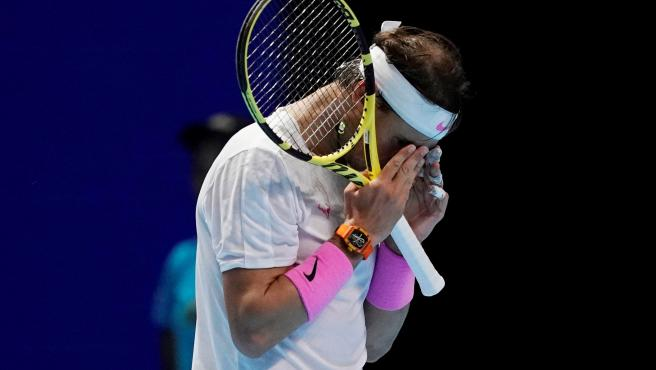 Rafa Nadal, durante las ATP Finals