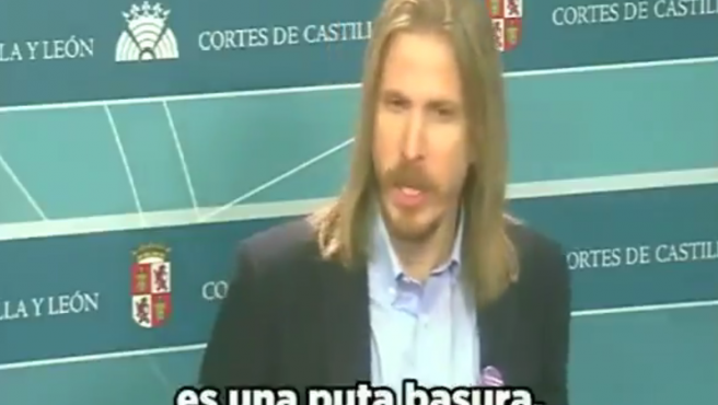 """Pablo Fernández, asegura que la PNL de Vox en Castilla y león """"es una puta basura""""."""