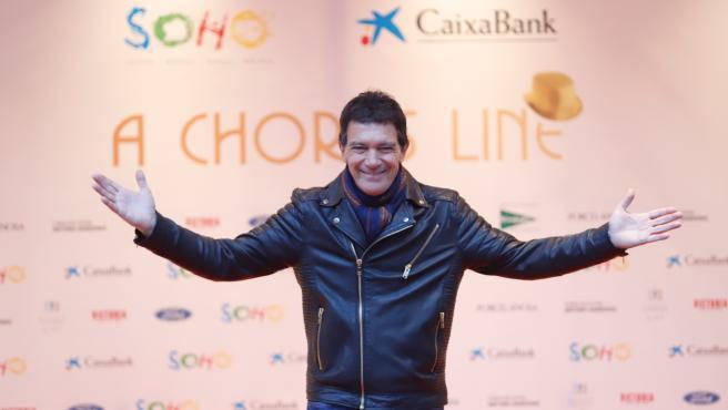 Antonio Banderas en la inauguración de su Teatro del Soho CaixaBank, que estrena el musical 'A Chorus line'